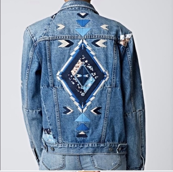 Blank NYC Jackets & Blazers - Blank NYC Embroidered Denim Jacket